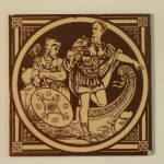 Landing of the Romans – English History Antique Tile