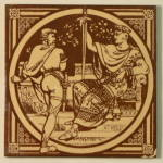 Click to view larger image of Harold�s Oath � English History Antique Tile (Image1)