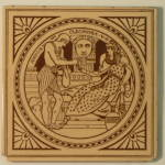 Antony & Cleopatra - Shakespeare Antique Tile