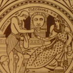 Click to view larger image of Antony & Cleopatra - Shakespeare Antique Tile (Image2)