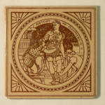 Antony & Cleopatra (Act IV) - Shakespeare Antique Tile