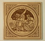 Click to view larger image of King Lear - Shakespeare Antique Tile (Image1)