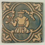 Click to view larger image of Vintage Moravian Pottery Tile - Virgo (Image1)
