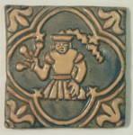 Vintage Moravian Pottery Tile - Virgo