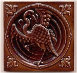 Click here to enlarge image and see more about item 209207: European Dragon/Mythical Beast tile - antique