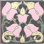 Click here to enlarge image and see more about item T-1107: Empire / Owens Arts & Crafts Tile