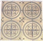 Click here to enlarge image and see more about item 23752: Antique Villeroy & Boch mosaic look floor tiles
