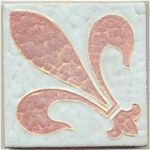 Click here to enlarge image and see more about item 3156: Wheatley Tile Matte Glazes ~ Fleur de Lys