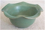 Peters & Reed matte green hand thrown bowl