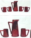 Click to view larger image of Alphonse Cytere luster pottery set (Image1)