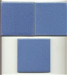 Click here to enlarge image and see more about item T-1131: Franklin  three great blue tiles!