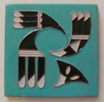 Click here to enlarge image and see more about item 3053: DHC Desert House Crafts ~ Symbolic Eagle Tile