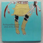 Click to view larger image of 2 Tile Panel ~ Apache Crown Dancer ~ Gila Pottery (Image3)
