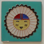 Click to view larger image of 6 inch ~ DHC Zuni Sun Face  (Image1)