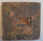 Click to view larger image of 3 Inch Tile of 2 Zuni Parrots Facing Each Other (Image2)