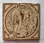 Click here to enlarge image and see more about item 64190: Moyr Smith Fairy Tales tile ca 1880