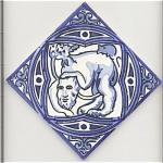 Click here to enlarge image and see more about item 75668: Tile with mythical creature