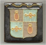 Click to view larger image of Wheatley tile with shield (Image1)