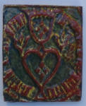 Click here to enlarge image and see more about item ArmoireA: Mercer - Trinity Tulip and Heart Tile