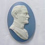 Click here to enlarge image and see more about item BxStve: General Pershing Tile Paperweight