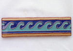 California Faience Border Tile with Waves