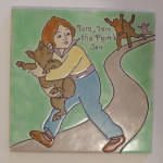 Click to view larger image of Franklin ~ Nursery Rhyme Tile ~ Tom Tom the Pipers Son  (Image2)