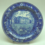 Click here to enlarge image and see more about item gap0059: Harrison Mansion Plate in Dark Blue ~ Wedgwood