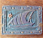 Click to view larger image of Galleon Ship Tile Signed Underhill (Image1)