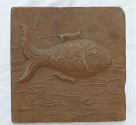 Click to view larger image of Terra Cotta Fish Tile (Image1)