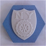 Click here to enlarge image and see more about item PW14: NY Rotary Commemorative Tile by Mosaic Tile Company