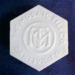 Click to view larger image of Mosaic Tile Advertising Medallion (Image1)