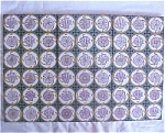 Click here to enlarge image and see more about item Set03: Antique Mintons China Works Tile Set - nice colors