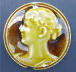 Click here to enlarge image and see more about item small022: Stove Tile - Woman Facing Left - 2 Inch