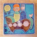 Click here to enlarge image and see more about item Soholm1: Danish Modern Tile Plaque by Soholm