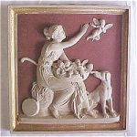 Click here to enlarge image and see more about item T1065: Antique Tile by Ipsen - Pat Sur Pat High Relief