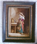 Antique Porcelain Tile Plaque