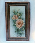 Click to view larger image of Porcelain Tile Plaque with Roses (Image1)