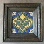 Click to view larger image of Mueller Tile Company Vintage Framed Tile (Image1)