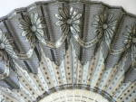 Click to view larger image of Vintage Victorian Black and White Sequined Fan (Image2)