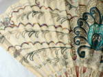 Click to view larger image of Vintage Victorian White Embroidered Fan (Image5)