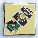 Sedona Arizona Trivet with Native American Mud Figure