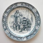 Click here to enlarge image and see more about item T1201: Wedgwood Ivanhoe Plate Friar Tuck & Black Knight