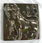 Click here to enlarge image and see more about item T1240: Taurus Tile by Schreckengost / Summitville