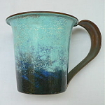 Click here to enlarge image and see more about item T1242: Unusual Nekrassoff Large Strap Handle Mug