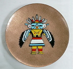 Click here to enlarge image and see more about item T1284: Annemarie Davidson Kachina Plate
