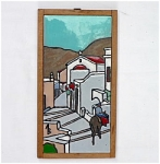 Click here to enlarge image and see more about item T1475-D: Scenic Signed Tile - Mountain Village