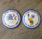 Click here to enlarge image and see more about item T1355: 1984 Olympics LA Ceramic Buttons