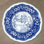 Click here to enlarge image and see more about item T1469: Rare Copeland Plate with Shakespeare Scene