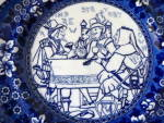 Click to view larger image of Rare Copeland Plate with Shakespeare Scene (Image2)