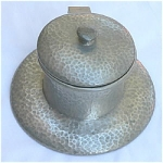 Click here to enlarge image and see more about item T1521: Liberty & Co Tudric Pewter Inkwell